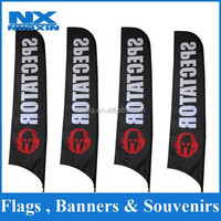 dye sublimation 110g knitted polyester beach outdoor advertising banners set