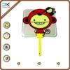 Smile monkey square shape fan, cheap wholesale pp plastic fan