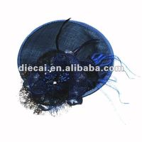 2012 fashion fibre hair accessory/headband/ Sinamay Fascinator for gril