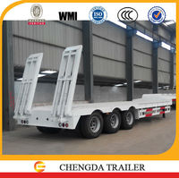 China made high quality 3 axle low loader off road truck and trailer