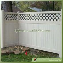 lattice top vinyl privacy fence