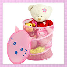 2014 Baby cute plastic laundry basket