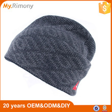 Simple high quality men knitted beanie caps and hats