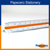 30cm plastic triangular scale ruler for student use