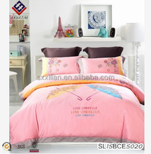 High-grade cotton satin embroidery and knitting fabric quality life bedding set home textiles children/teenager