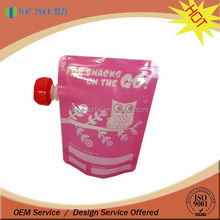 New Style stand up pouch with nozzle for fruit