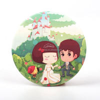 HOMEQIcheap small cosmetic mirror Hot Sale Popular Fashion Lady's Gift Fashion Wholesale Compact MirrorGift usageKR2084