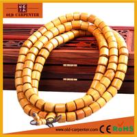 Gold Sandalwood tibetan Buddhism religious barrel beads prayer boys latest fashion bangles and bracelets jewelry 2015