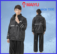 polyester waterproof reflective pvc coating rosida axio raincoat ,rain jacket and pants
