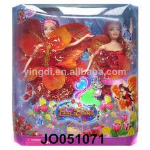 muñecas de juguete para los niños hermosa niña de la muñeca conjunto de flores de hadas