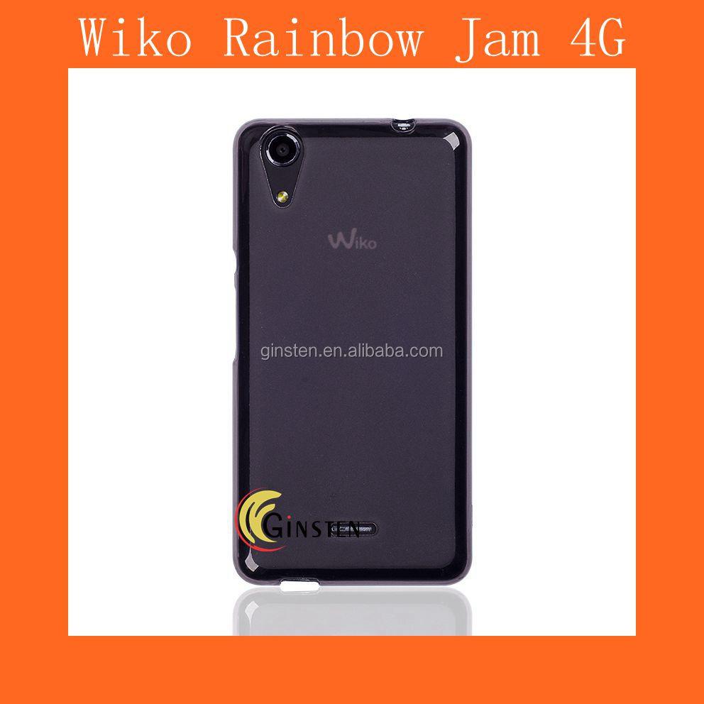 Wholesale Wiko Rainbow Jam Gray TPU Cover Wiko Rainbow Jam 4G Cover ...