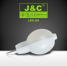 PC cover high lumen 1.2w 12v g4 led lamp with CE