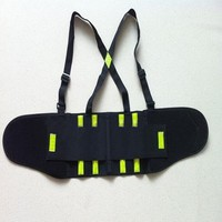 Polyester Elastic Reflective Tape CE Working Support Safety Waist Back Belt