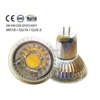 185-260v gu5.3 COB 5w LED spot bulb lamps, 50*55MM GLASS CUP COB LED SPOTLIGHT