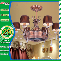 unique negative ions 18inch hidden blade ac dc ceiling fan with led lighting