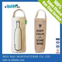 Quality cotton canvas bags   wholesale cotton wine carrier bag
