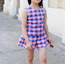 D80498F 2015 summer clear girl kid suits