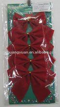 Christmas ribbon bowknot embelish