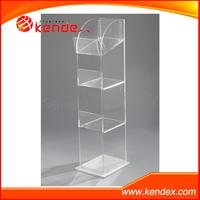 clear acrylic dump bin display stand