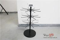 Detachable Counter 3-Tier Metal Rotating Pandora Jewelry Display Stand
