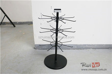 Detachable Counter 3-Tier Metal Rotating Pandora Jewelry Display Stand