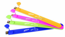 Low MOQ New Silicone Slap USB Wrist Band Bracelet USB Flash Drive(MOQ 100pcs)