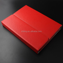 Red Leather light wireless 9 Inch Notebook / Laptop bluetooth keyboard with case
