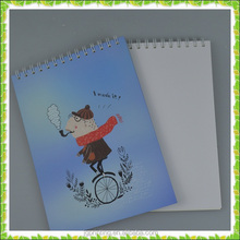Customized Cartoon Pattern Spiral Notebook for School