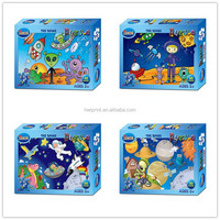 80 Pieces High Quality Colorful Fashion Cartoon Mini jigsaw puzzle paper toy