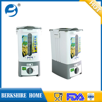 kitchen rice bin, Gray and white useful plastic rice container