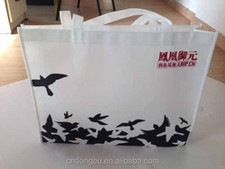 China manufacture full color printing non woven shopping bag logo print non woven tote bag