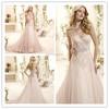Appliques Make Patterns Lovely Lace Up Bridal Robe De Custom Strapless MM-0991 Designer A-Line Back Wedding Dresses