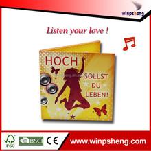 listen you love! custom 1-120s pre-record music happy birthday card