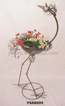 "YS88005 metal bird garden pot of flower arragement made in Xiamen with size 18*11*41"""