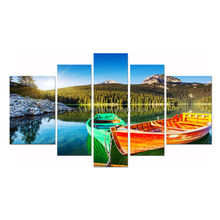 Sea Boat Canvas Art/Landscape Decor Wall Art Prints/Wholesale Stretched Canvas