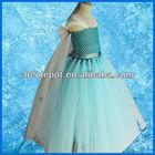 2014 crianças princesa congelados elsa vestido sem mangas trajes cosplay