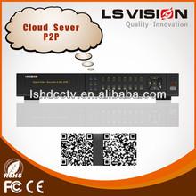 ls visión de alta calidad mejor p2p nube de servidor hd sdi dvr h 246 dvr