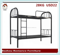 Strong cheap labour camp metal bunk bed