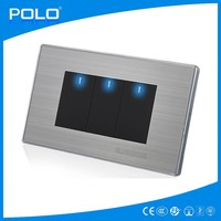 Five-star hotel installation shall apply 3gang 1way switch/3 gang 2 way switch