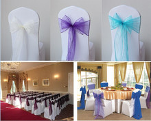 Wedding Banquet Superior Quality Chair Decoration Satin Sashes