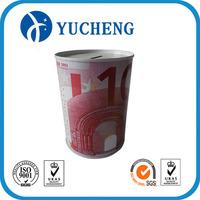 wholesale round coin saving money tin box with customized design