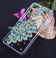Handmade peacock diamond Crystal Case Cover for Apple iPhone 5 5G 5S
