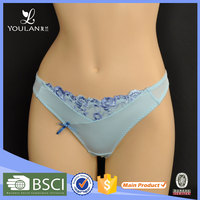 New Style Sexy Blue Bow Knot Womens Underwear Thongs