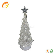 Changing colors LED acrylic crystal 32cm tall christmas tree