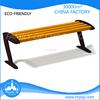 European standard solid wood bench outdoor park leisure furniture