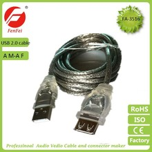 High Speed USB2.0 AM-AF Cable USB Cable Nickel Plated