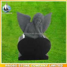 Black granite angel