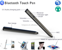 New style Wireless Bluetooth Headset Touch Screen Pen/ bluetooth pen with new design item support to answer calls