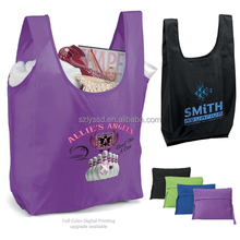 Custom 210D Polyester Folding Shopping Tote Bag for Promotion