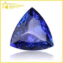 hot sale blue corudnum gems for jewelry making Trillion blue sapphire stones